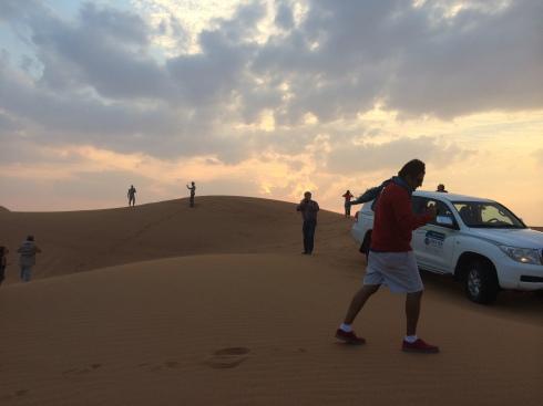 In de zandbak spelen in Dubai